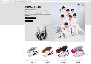PUMA - BTS landing page