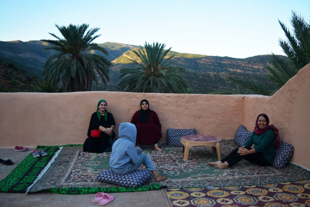 EBM - women on rooftop in Morocco