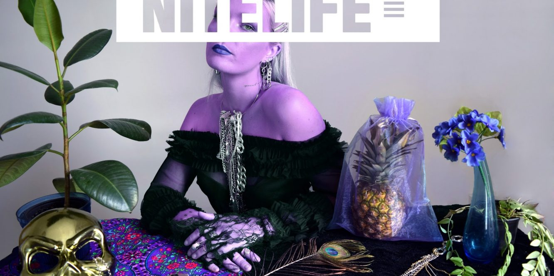 Purple-themed photoshoot by Emma Blake Morsi and Anna Lisa